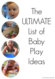 13 Top Baby Activity Blogs share their favorite baby play activities - from sensory play to motor skills and early art - this round up has it all.  65 activities in total with an additional link to each site's baby play archive!  From Fun at Home with Kids