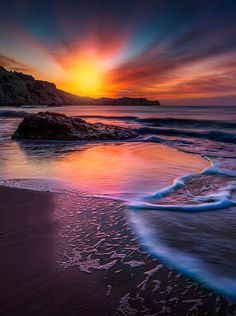 "coiour-my-world: ""Sunrise at Rhodes ~ panagiotis laoudikos """