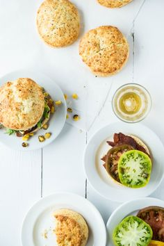 Cheddar and Thyme BLT Biscuit Sandwiches