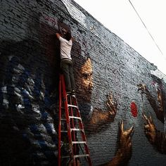 Streetart: Fintan Magee New Murals In Los Angeles (5 Pictures)