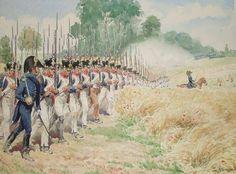 Assalto della fanteria francese - Lucien Rousselot.