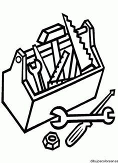 Dibujo de caja de herramientas