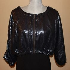 Nordstrom Sequin Jacket Fully lined. Elastic at sleeves and around bottom. Snag on one sleeve (pictured) Gibson Jackets & Coats
