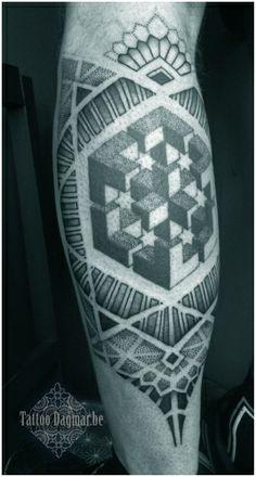 pattern, dotwork tattoo, Tattoo Dagmar