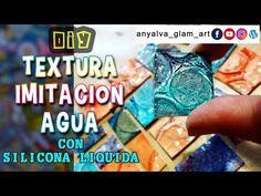 Textura imitación agua con silicona fría - YouTube Diy And Crafts, Arts And Crafts, Decoupage, Pasta Flexible, Crafty, Stencils, Youtube, Scrap, Plastic