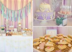 Whimsical Mermaid Birthday Party via Karas Party Ideas | KarasPartyIdeas.com #mermaid #birthday #party #ideas #cake #supplies