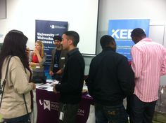 Busy at the University of Wolverhampton recruitment fair October 2012.