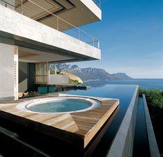 Schwimmbad Schwimmteich Modern Hausbau Beton Sichtbeton
