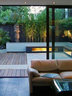 modern garden lighting ambience