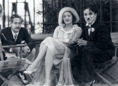 Marlene with Charlie Chaplin and Josef Von Sternburg