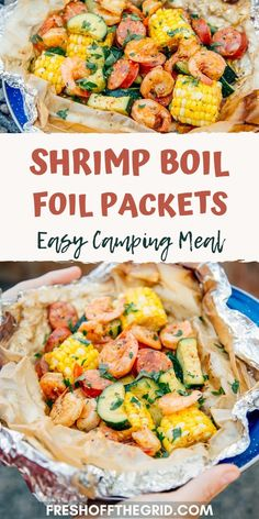 This Shrimp Boil Foil Packet is a campfire classic and the perfect meal idea for your next camping trip. Foil pack meals are quick to prepare, easy to clean up, and can be cooked directly over a campfire or BBQ. Shrimp In Foil Packets, Shrimp Boil Foil, Foil Packet Dinners, Foil Dinners, Tin Foil Meals, Campfire Food, Campfire Recipes, Easy Meals, Healthy Camping Meals