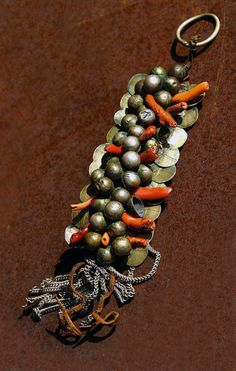 Morocco   Head ornament from the Sahara region; silver, coral and leather   Second half of the 19th century  ©Bianca Maggi