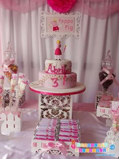 Solange G's Birthday / Peppa Pig - Photo Gallery at Catch My Party Pig Birthday, Birthday Cake Girls, Birthday Parties, Birthday Ideas, Party Themes, Party Ideas, Pig Party, Favors, Stuffed Peppers