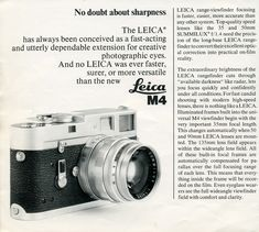 The Leica M4 System, 1971
