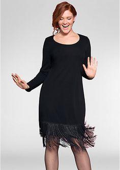 sheego Anna Scholz Charleston-Kleid – schwarz