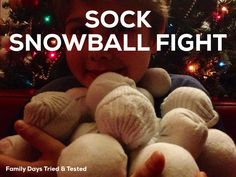 Sock snowballs at the ready for an indoor invasion (the teenager was NOT happy lol)