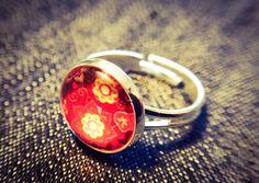 """Ringe - Cabochon-Ring """"Flowers (red)"""" - ein Designerstück von Soulmate-Works bei DaWanda"""