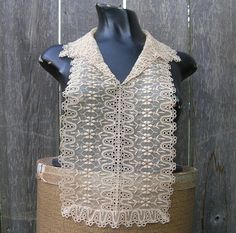 Vintage TAKE A PEEK Lace Dickey With Collar