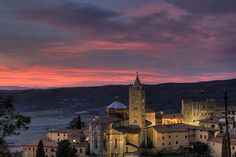 Massa Marittima - my home town - at night, Maremma Tuscany Italy