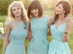 bridesmaids soft blue dresses