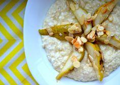 Čo jesť na raňajky počas celého týždňa? 5 sladkých receptov! - Fitshaker Hummus, Oatmeal, Food And Drink, Breakfast, Ethnic Recipes, Sunday, Fancy, Sport, Fitness
