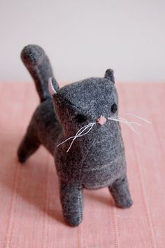 Gray Wool Kitten