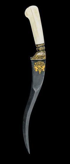 Zirah Bouk (Armour piercing Dagger). Dated: last quarter of the 19th century…