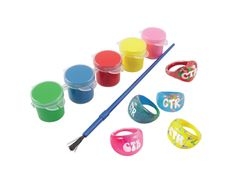 CTR Bubble Ring Kit - DIY CTR Rings  great for the kids! Comes with the 5 rings, 6 CTR decals, paint and a paintbrush!