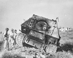 Heavy tank destroyer Elephant knocked out at Anzio, Italy, May 1944 (PaleHooptie)