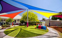 New triangle outdoor sun sail shade canopy cover - blue Sun Shade Tent, Outdoor Sun Shade, Shade Canopy, Diy Canopy, Canopy Cover, Pergola Shade, Shade Sails, Pool Shade, Metal Canopy