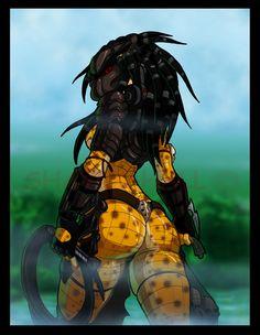 I dunno just felt like drawing a female Predator I really like how it came out ^^ Predator(yautja) © Century Fox Film Femme Fatale Alien Vs Predator, Predator Alien, Aliens, Desu Desu, Alien Girl, Furry Girls, Anime Furry, Anthro Furry, Sci Fi Art
