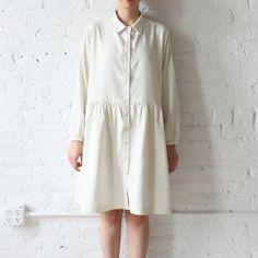 rennes Islington Dress White Silk Noil