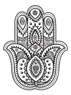mandala hand fatma coloring pages printable and coloring book to print for free. Find more coloring pages online for kids and adults of mandala hand fatma coloring pages to print. Mandala Art, Mandalas Painting, Mandalas Drawing, Mandala Tattoo, Hand Of Hamsa Tattoo, Hamsa Drawing, Fatima Hand Tattoo, Mandala Symbols, Yoga Symbols
