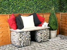 A gabion is a large mesh cage which can be filled with stones or pebbles etc to add a structure to your garden. Typically used in large-scale construction projects such as river bank maintenance, gabions are now becoming an increasingly popular addition to gardens across the UK