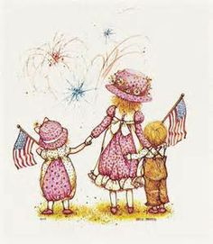Holly Hobbie and friends celebrating Independence.