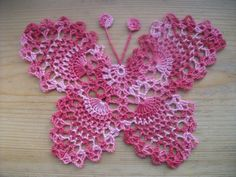 crochet butterfly doily | Crochet Butterfly Doily Applique Motif For Sale in Mayo from iona3928