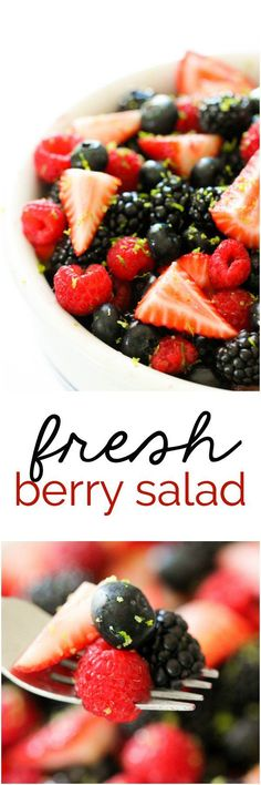 Fresh Berry Salad from SixSistersStuff.com