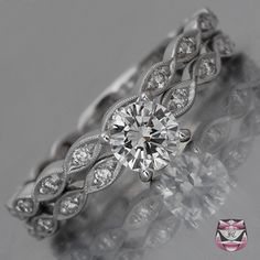 Art Deco Wedding Ring Setting. Looks just like mine, which is like 60 years old. Huh.