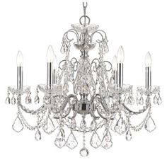 Shop for Crystorama Imperial Chrome 6-Light Crystal Chandelier. Get free shipping at Overstock.com - Your Online Home Decor Outlet Store! Get 5% in rewards with Club O!