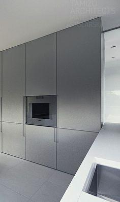 Minimalist kitchen project in Warsaw by Tamizo architects _