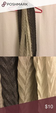 Infinity scarf Shimmery charcoal, light grey, cream gradient infinity scarf. Accessories Scarves & Wraps