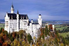 Visit Germany. The Neuschwanstein Castle in Bavaria. Munich tours. Germany tourism.