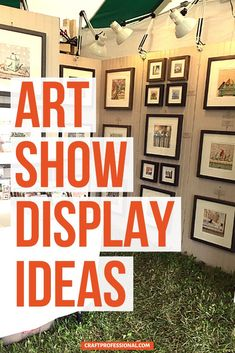Lots of art show display ideas. 7 craft fair booth photos show you how to display art prints to sell. #artshow #displayart #craftprofessional Selling Crafts Online, Craft Online, Vendor Displays, Store Displays, Craft Show Booths, Craft Markets, Booth Design, Craft Fairs, Crafts To Sell