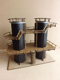 This listing is for the Dual Silos. Laser cut buildings intended for Warhammer and other scale table top wargames For this building you will need to source two Pringle tubes you can get these fr Terrain 40k, Game Terrain, Wargaming Terrain, Warhammer 40k, Warhammer Terrain, Tabletop, Model Training, Pringles Can, Train Table