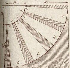Выкройка юбки полусолнце со складками | Как сшить юбку от А до Я. Выкройки. Фасоны. Модные модели