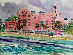 Sandy Beaches, Places To Travel, Watercolor Paintings, Hawaii, Sea, Life, Water Colors, Destinations, Holiday Destinations