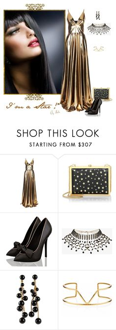 """Gowns! - I'm a Star!"" by selene-cinzia ❤ liked on Polyvore featuring La Mania, Alice + Olivia, Rosantica, Miriam Haskell and Maya Magal"