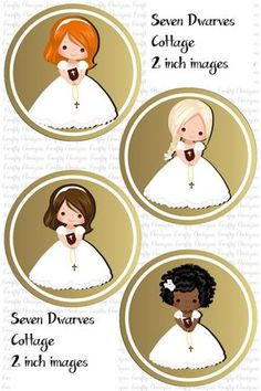 First Communion Cuties Cupcake Toppers  Hey, I found this really awesome Etsy listing at https://www.etsy.com/listing/274210754/first-communion-girls-2-inch-cupcake