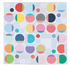 Circle Shuffle Quilt from 'A Modern Twist: Create Quilts with a Colorful Spin' by Natalie Barnes with Angela Walters (Martingale). Featured at Latifah Saafir Studios