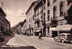 Via Milano, Como, 1950-1970